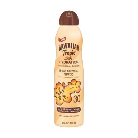 Sunblock, SPF 30, Spray, Hawaiian Tropic, Silk Hydration