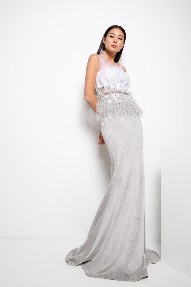MOYA GOWN IN GREY