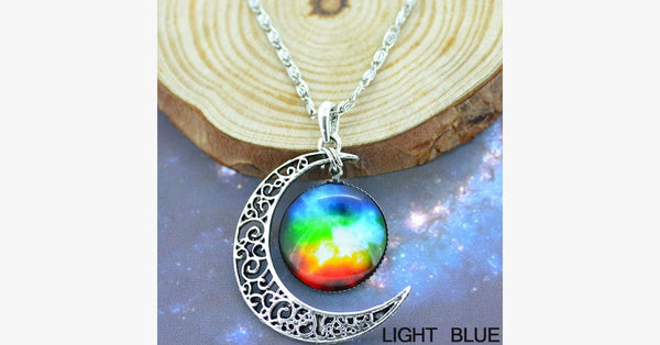 Starry Galaxy & Moon Necklace