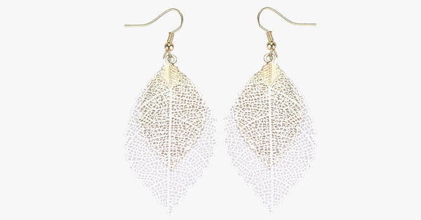 Leaf Dangle Earrings - FREE SHIP DEALS