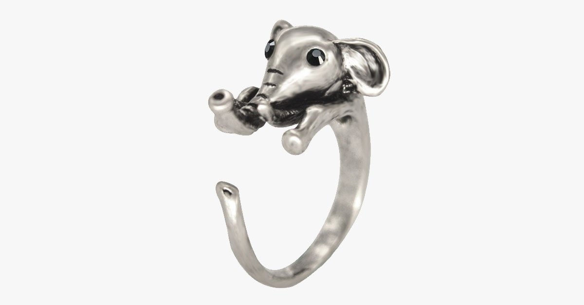 Cute Elephant Adjustable Ring - FREE SHIP DEALS
