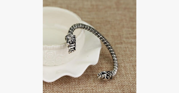 Two Headed Wolf Cuff Bangle - FREE SHIP DEALS