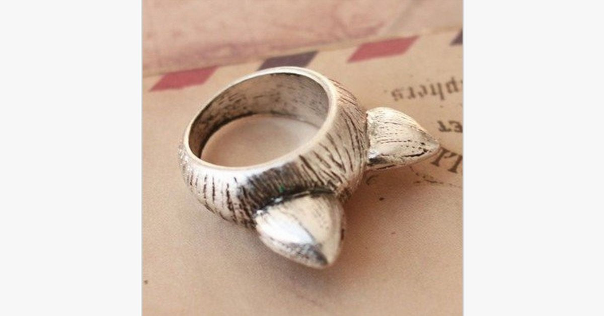 Vintage Kitty Love Ring - FREE SHIP DEALS