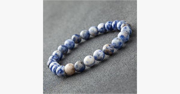 White Cobalt Yoga Bracelet - FREE SHIP DEALS