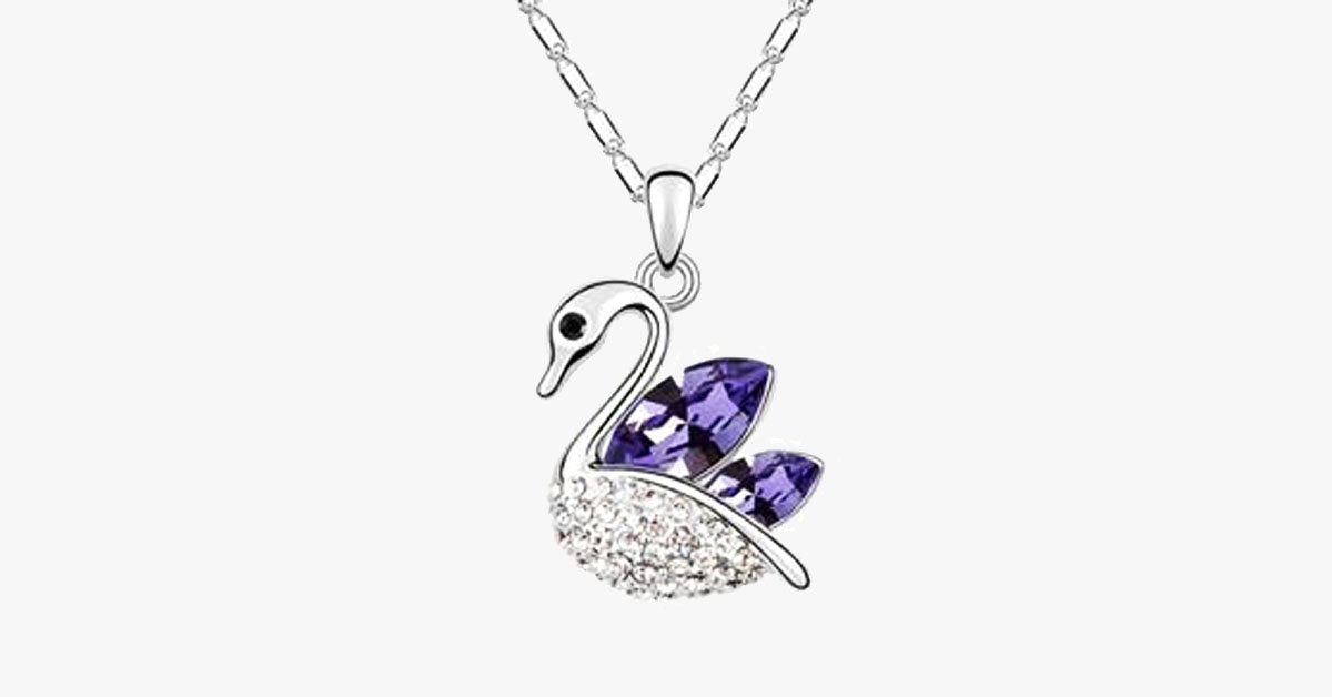 Swan Silver Plated Pendant