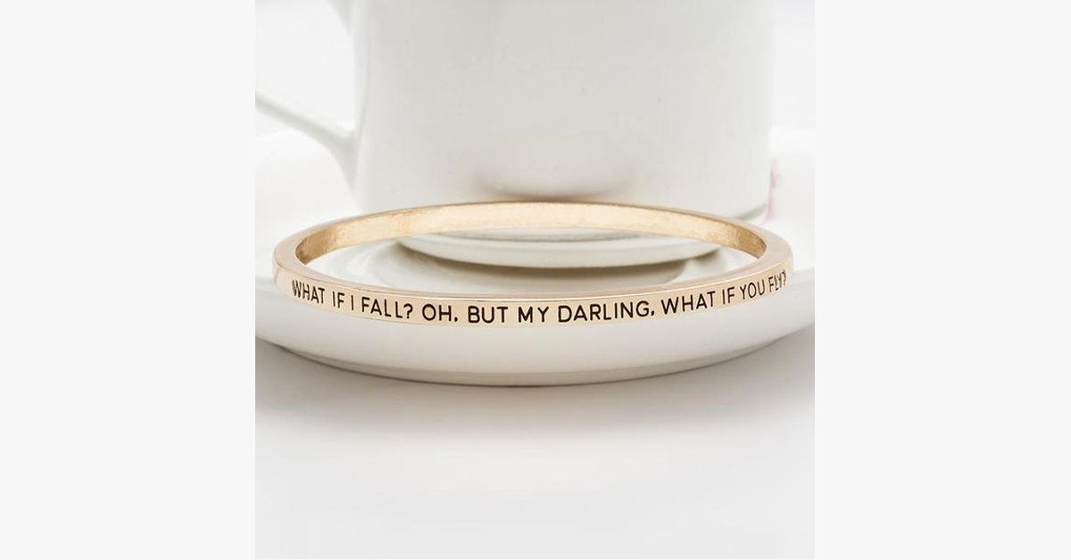 What If I Fall Bangle - FREE SHIP DEALS