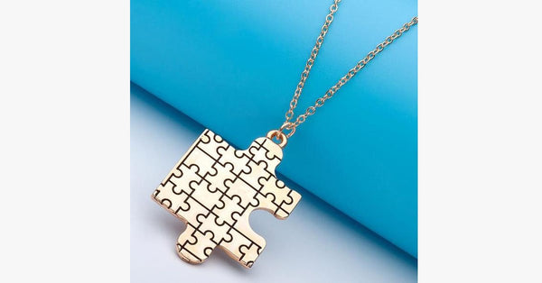 Autism Awareness Puzzle Pendant - FREE SHIP DEALS