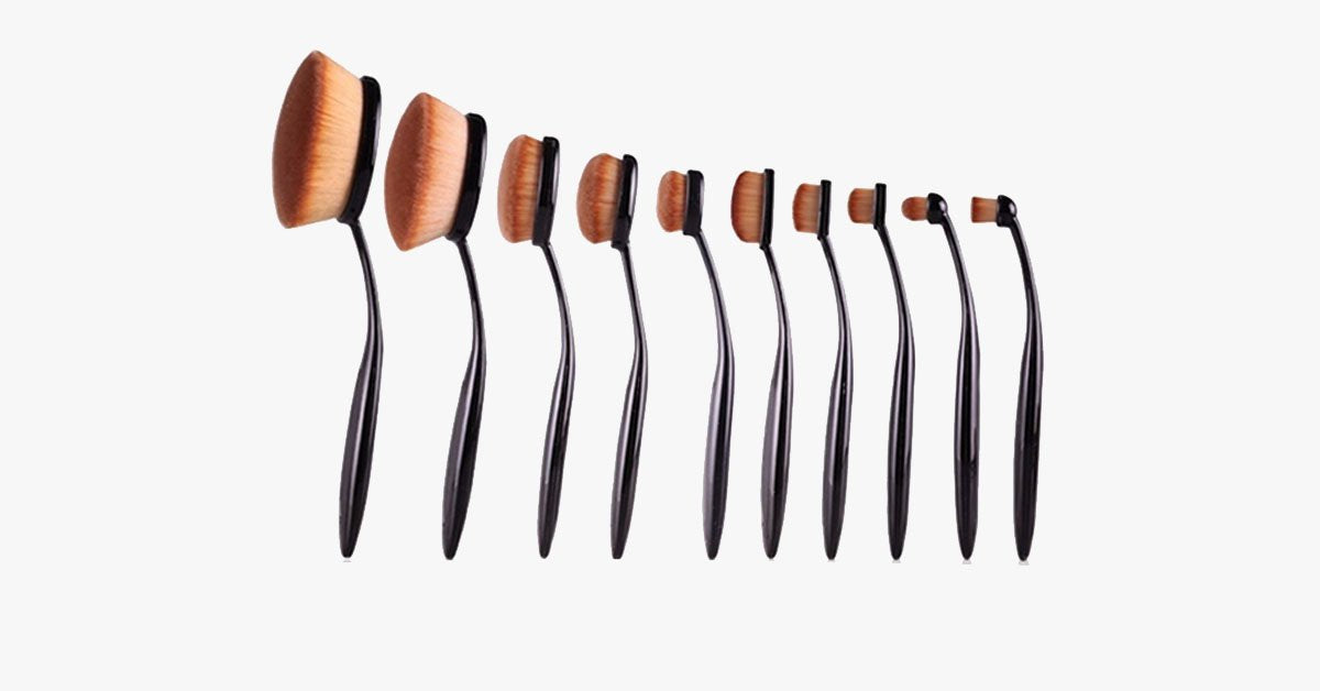 Oval Brush 10 Piece Set - FREE SHIP DEALS