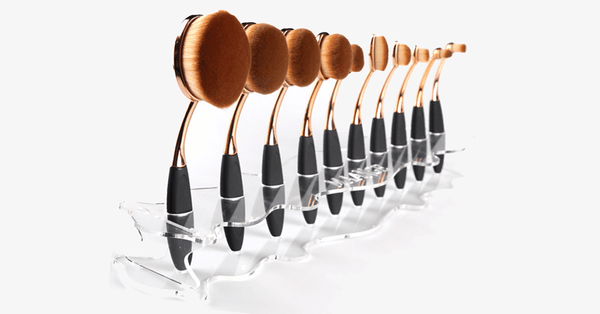 Oval Brush Set Holder Row Stand - FREE SHIP DEALS