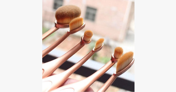 'The Midas Touch' 10 Piece Oval Brush Set - FREE SHIP DEALS