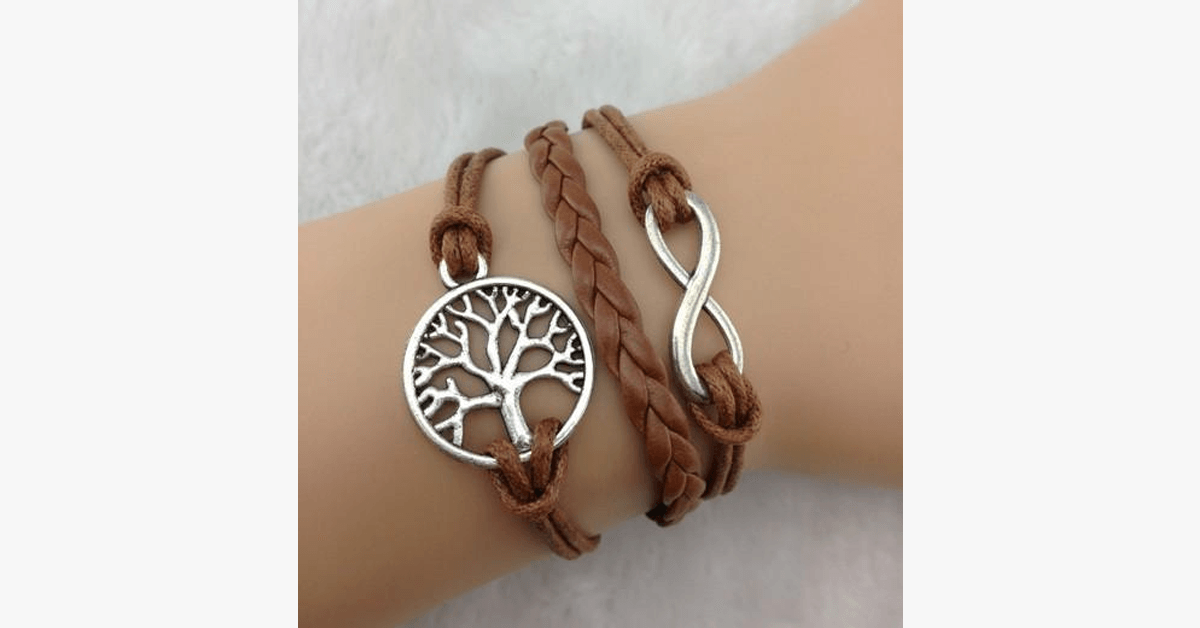 Leather Infinity Bracelet - Simple yet Classy – Add a Touch of Boldness to Your Overall Look!