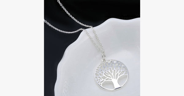 Silver Tree of Life Pendant - FREE SHIP DEALS