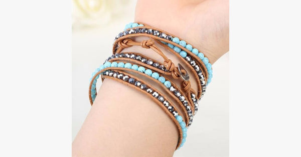 Turquoise Hex Wrap Bracelet - FREE SHIP DEALS