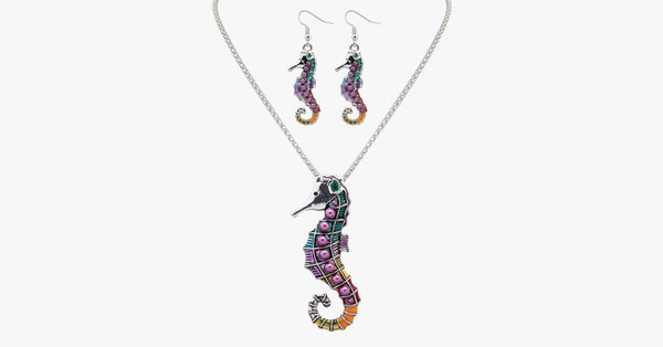 Seahorse Pendant Set – Exquisite Color and Extremely Durable – Wear it With Any Outfit!