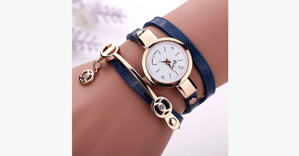 Gold Charm Wrap Watch - FREE SHIP DEALS