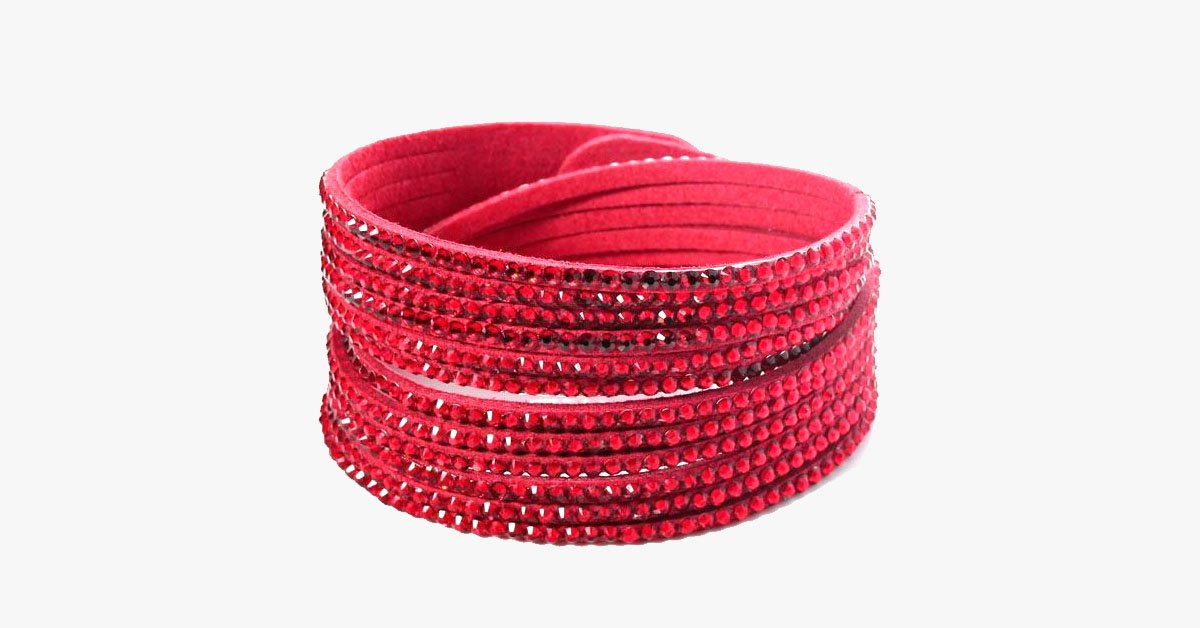 Red Beads Wrap Bracelet - FREE SHIP DEALS