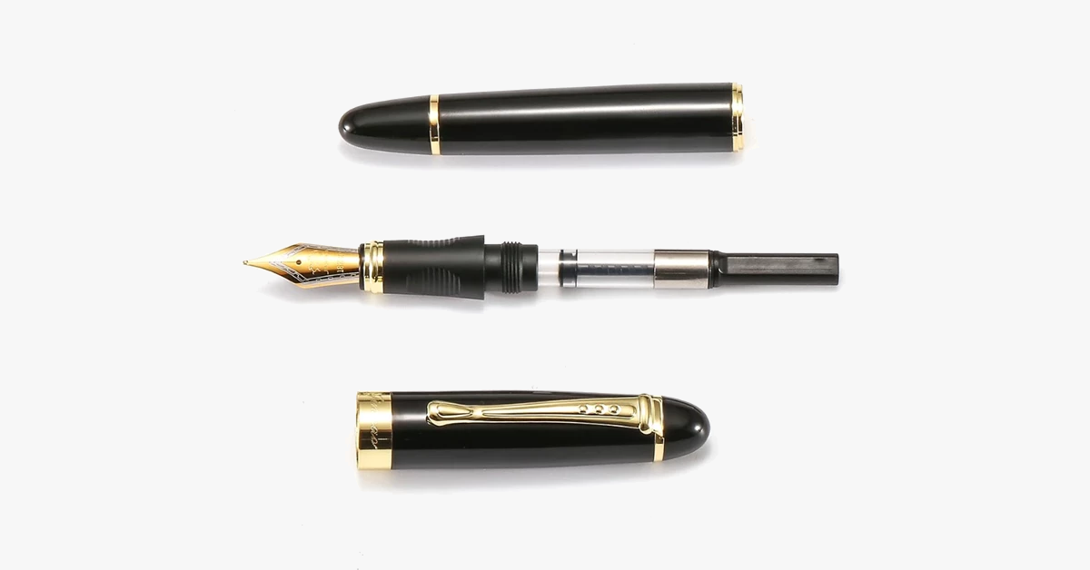 Luxury Modern Classic Fountain Pen - Stainless Steel Body