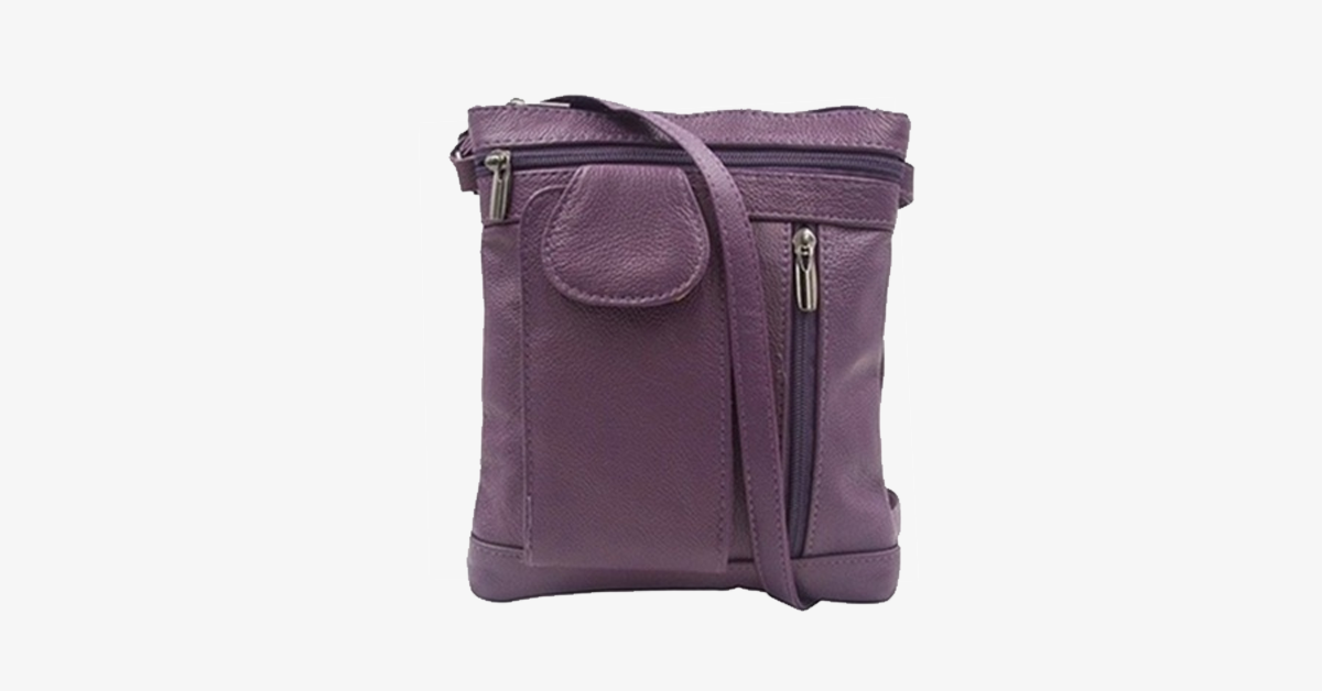 On-The-Go Soft Leather Crossbody Purse