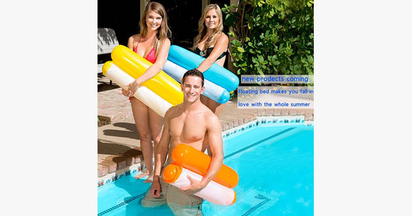 Swimming Pool Inflatable Floating Chair - Made of Plastic - Foldable, Durable & Compact - Comfortable New Design