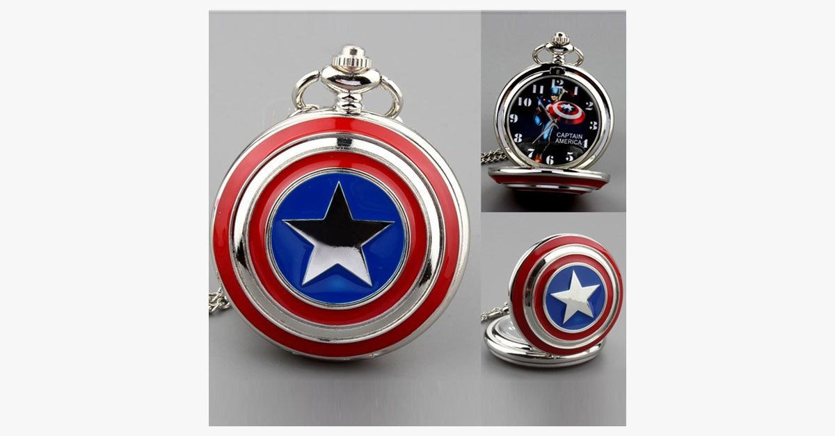 Captain America Pocket Watch - FREE SHIP DEALS