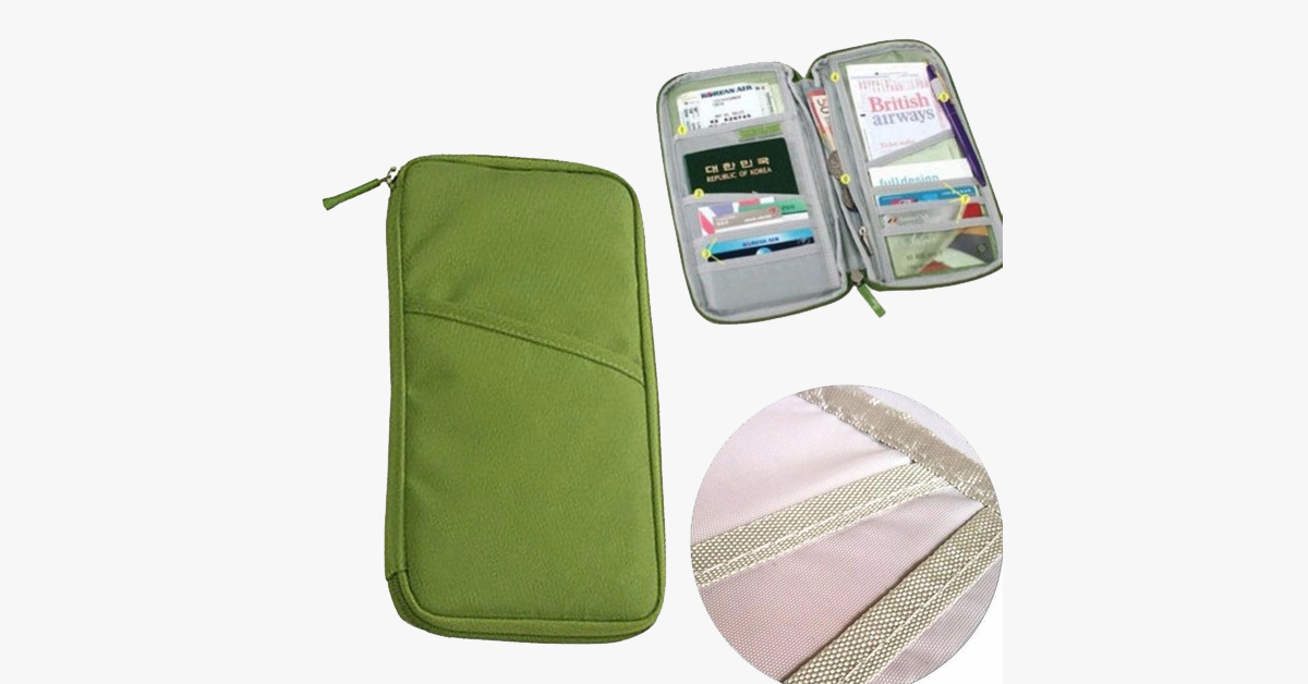 Zipped Travel Wallet - 3 Pack - FREE SHIP DEALS