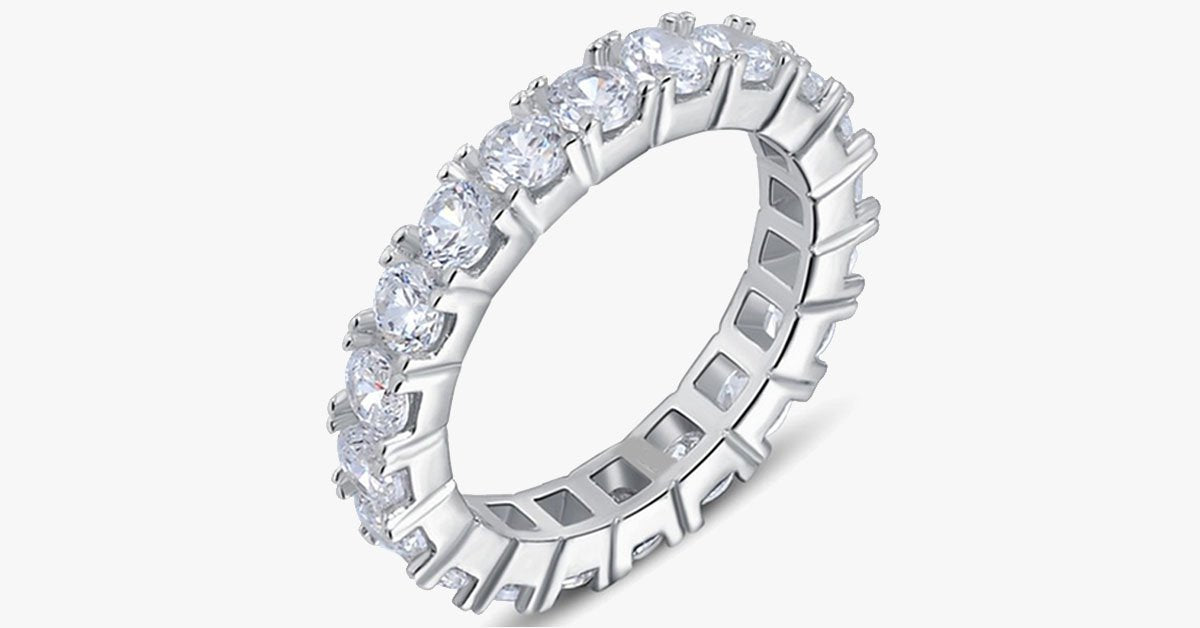 Luxury Crystal Eternity Ring - FREE SHIP DEALS