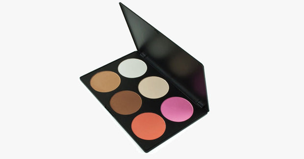 6 Color Blush Palette - Perfect for Cheekbones - Pink & Peach Color