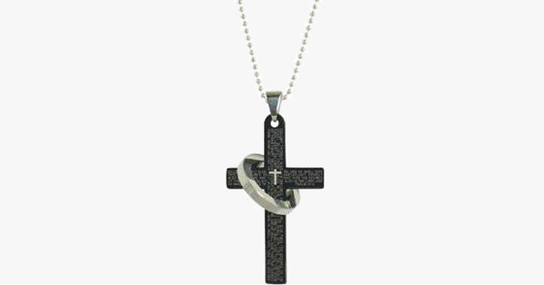 Printed Cross Ring Pendant - FREE SHIP DEALS