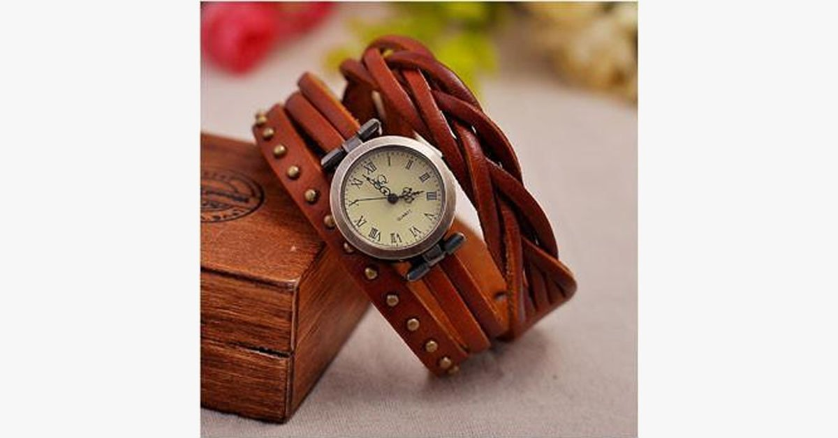 Vegan Leather Watch - FREE SHIP DEALS