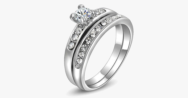 Two Circle Promise Ring - FREE SHIP DEALS