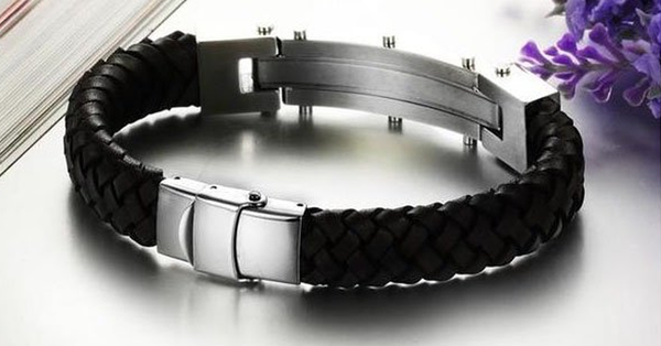 Armageddon Wing Men's Stainless Steel Bracelet (Brown) - FREE SHIP DEALS
