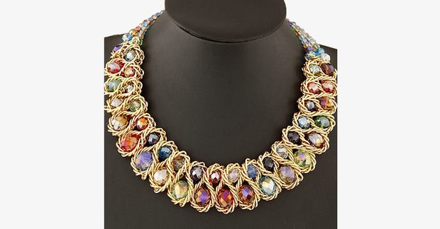 Big Choker Double Bead Necklace - FREE SHIP DEALS