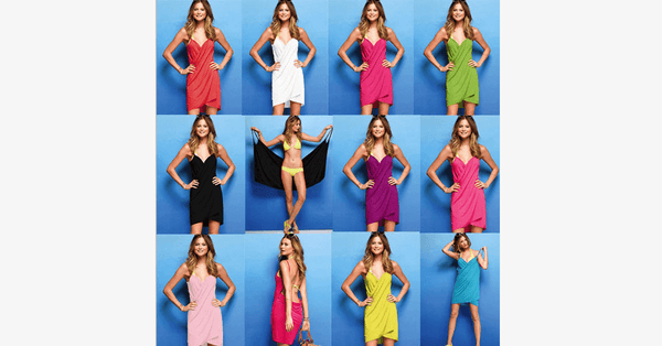 Bikini Wrap Dress - Assorted Colors - FREE SHIP DEALS