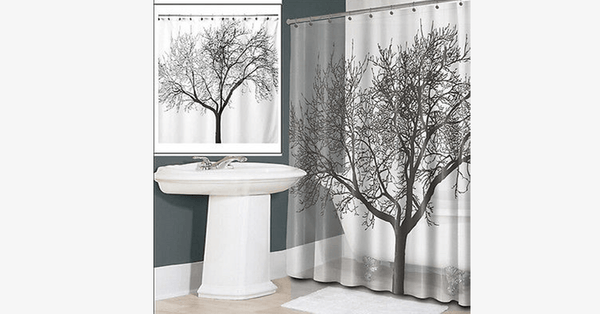 Waterproof Shower Curtain - Tree Design - FREE SHIP DEALS