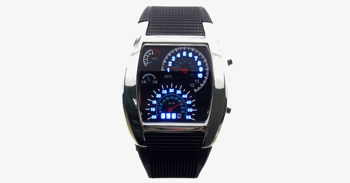 LED Digital Watch Men's Race Car Military Style - FREE SHIP DEALS