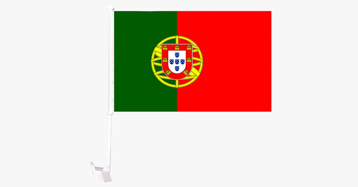 Portugal Flag Car Window Pole Decoration - FREE SHIP DEALS