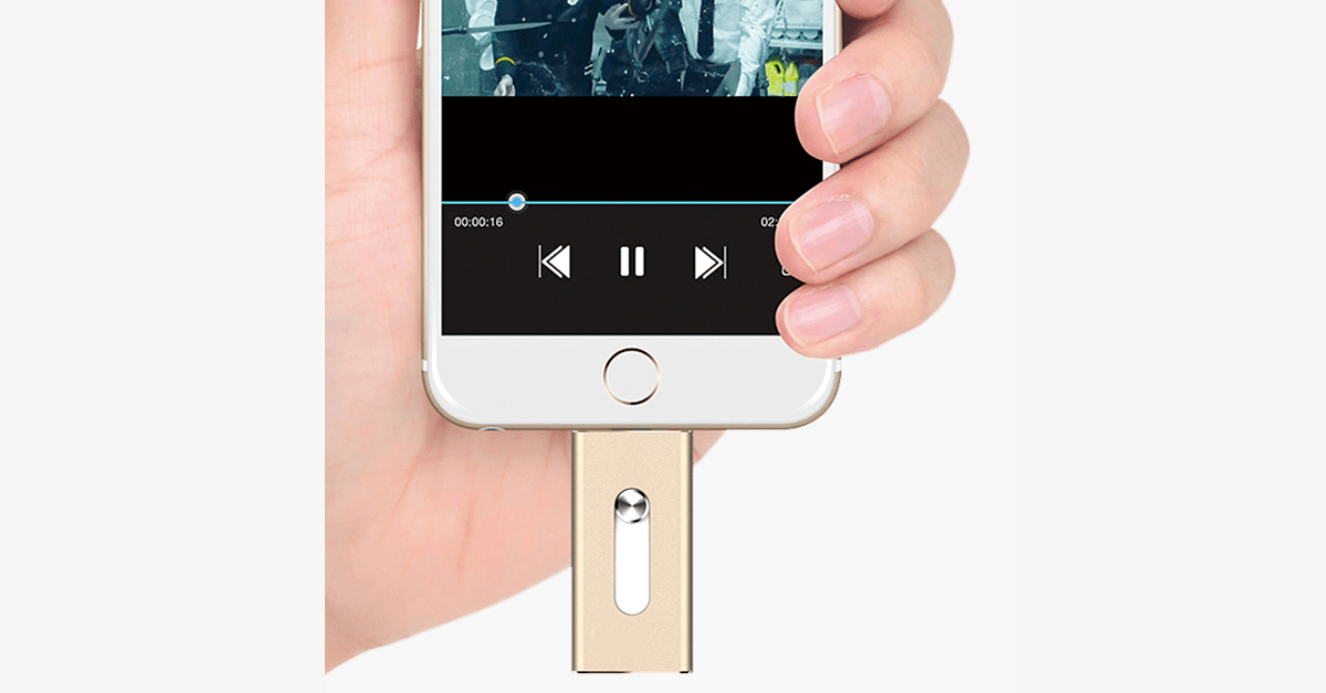 IOS Flash USB Drive for iPhone & iPad - Extra Storage for your iPhone & iPad - High-speed Data Transmission - Available for iOS& Windows