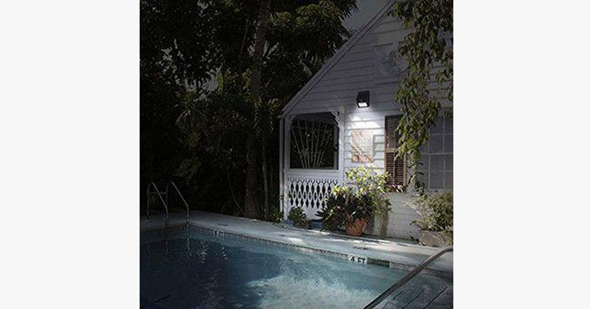 LED Solar-Powered Motion Sensor Security Light - No Wiring Needed,Easy Installations - FREE SHIP DEALS
