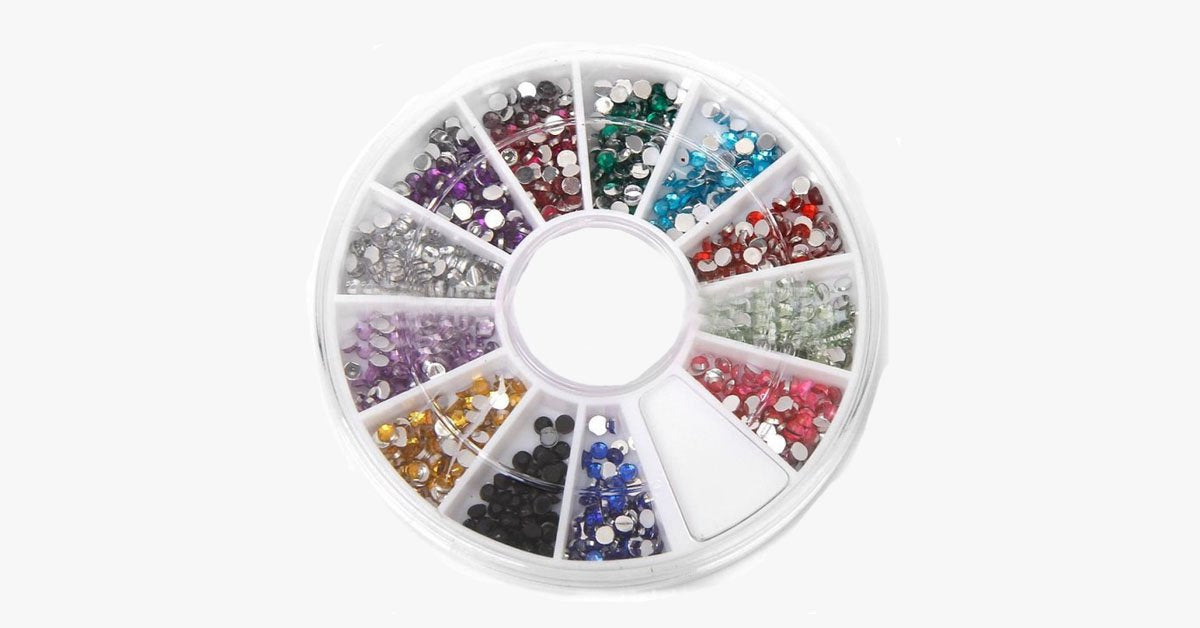 12 Color Nailart Manicure Wheels - FREE SHIP DEALS