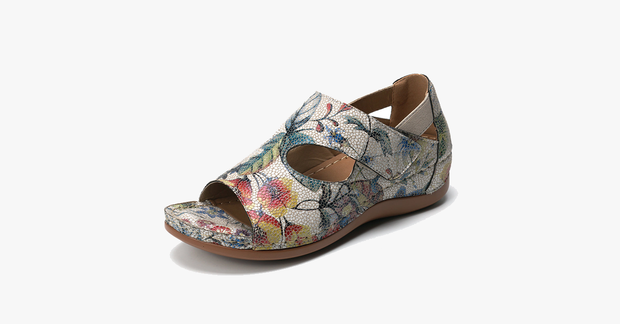 Adjustable Floral Pattern Summer Sandals
