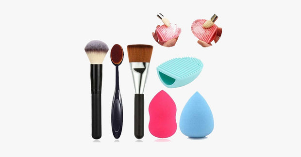 6 Piece Brush Sponge Combo - FREE SHIP DEALS