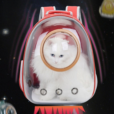 Cat Backpack Space Capsule Bubble Pet Backpack for Small Dog