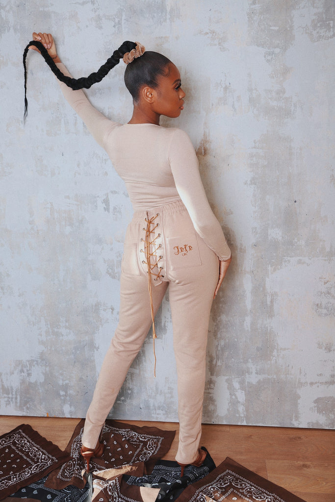 "LACE UP PANTS IN ""LIGHT"""
