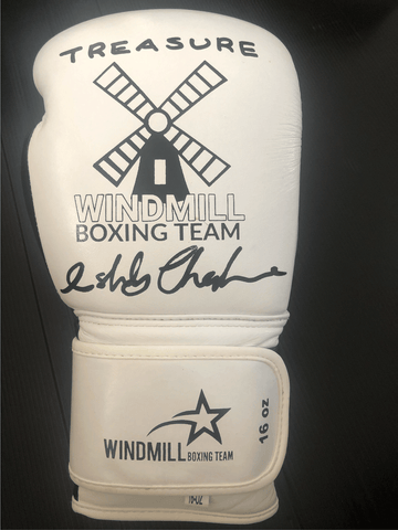 Signed Ashley Theophane Boxing Glove