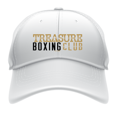 Treasure Boxing Club White Baseball Hat