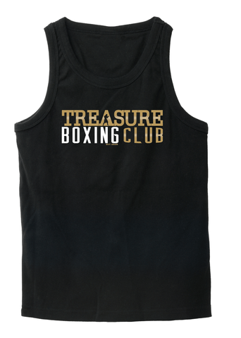 Treasure Boxing Club Black T-Shirt No Sleeves