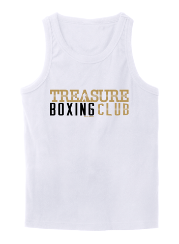 Treasure Boxing Club White T-Shirt No Sleeves