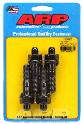 Universal Bellhousing to Manual Transmission Stud Kit 1/2in Black Oxide Hex Head