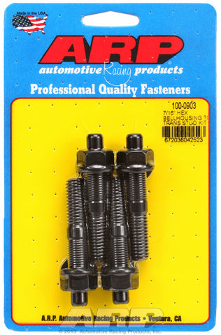 Universal Bellhousing to Manual Transmission Stud Kit 7/16in Black Oxide Hex Head