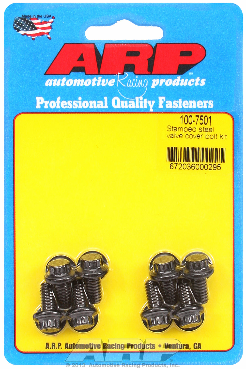 Valve Cover Bolt Kit for Stamped Steel Covers 1/4-20 thread, 0.515in UHL QTY: 8 12-pt Head